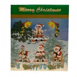 Père Noël lumineux et animé batteur