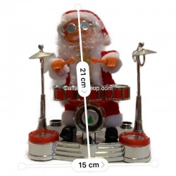 Père Noël lumineux animé batteur