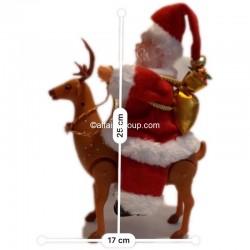 Père Noël lumineux et animé cerf