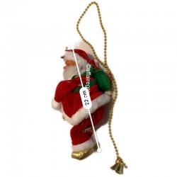 Père Noël lumineux et animé grimpeur