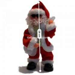 Père Noël lumineux et animé guitariste