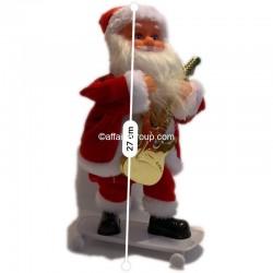 Père Noël lumineux et animé guitariste Skate