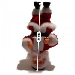 Père Noël lumineux et animé acrobate