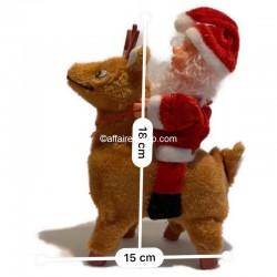 Père Noël animé cerf