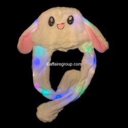 Bonnet de lapin lumineux oreilles qui bougent
