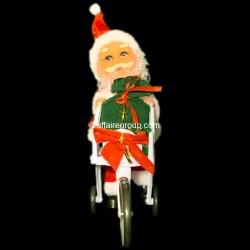 Père Noël lumineux chariot