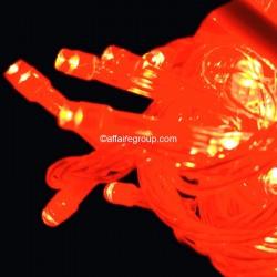 Guirlande rouge lumineuse 10 mètres