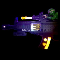 Pistolet mitrailleur lumineux