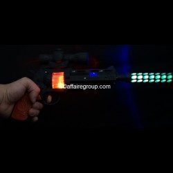 Pistolet lumineux avec silencieux