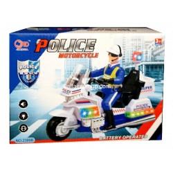 Moto de police lumineuse